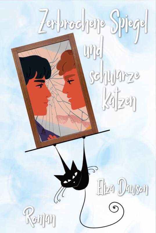 Zerbrochene Spiegel und schwarze Katzen